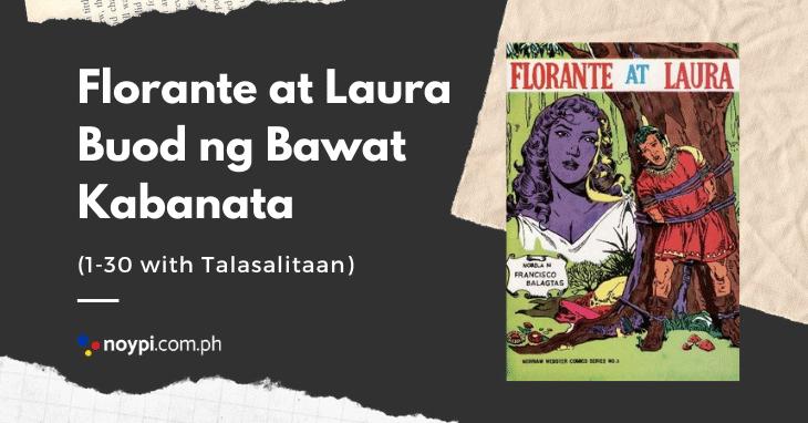 Florante at Laura Buod ng Bawat Kabanata 1-30 with Talasalitaan