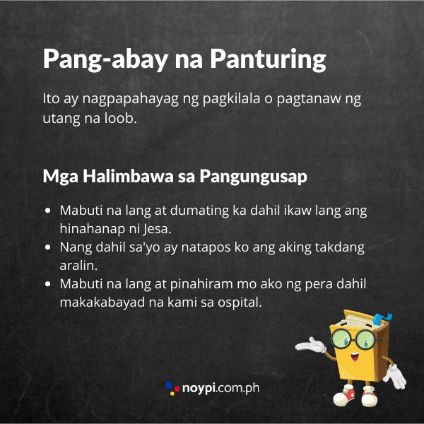 Pang-abay na Panturing Image