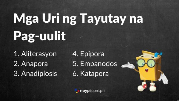 Mga uri ng Tayutay na Pag-uulit Image