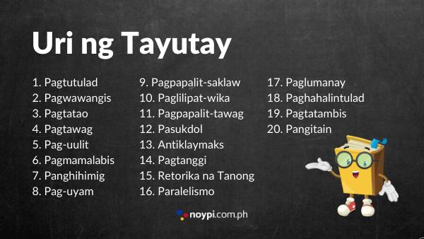 Mga Uri ng Tayutay Image